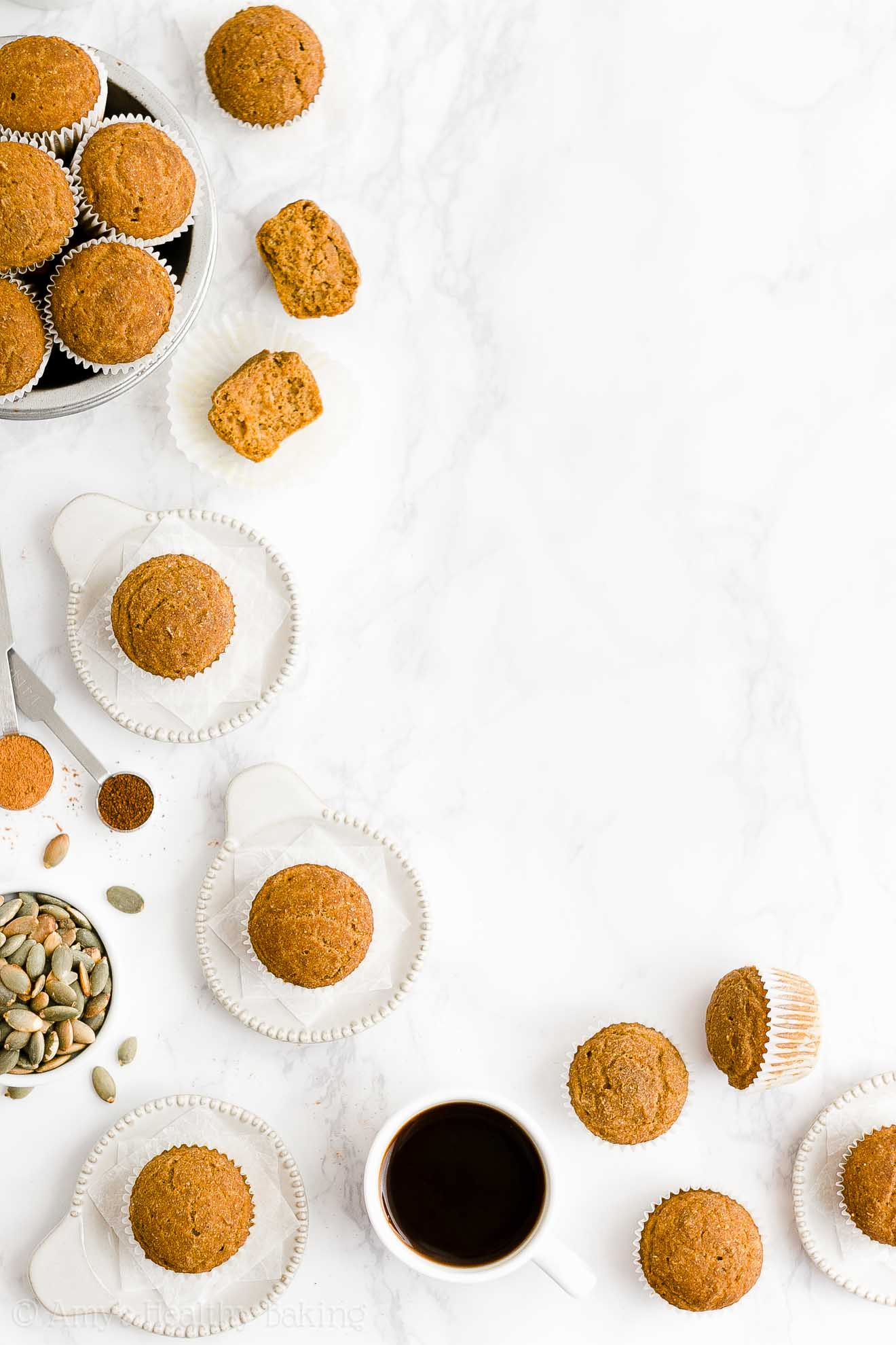 Best Easy Healthy Low Fat Whole Wheat Egg Free Moist Pumpkin Mini Muffins