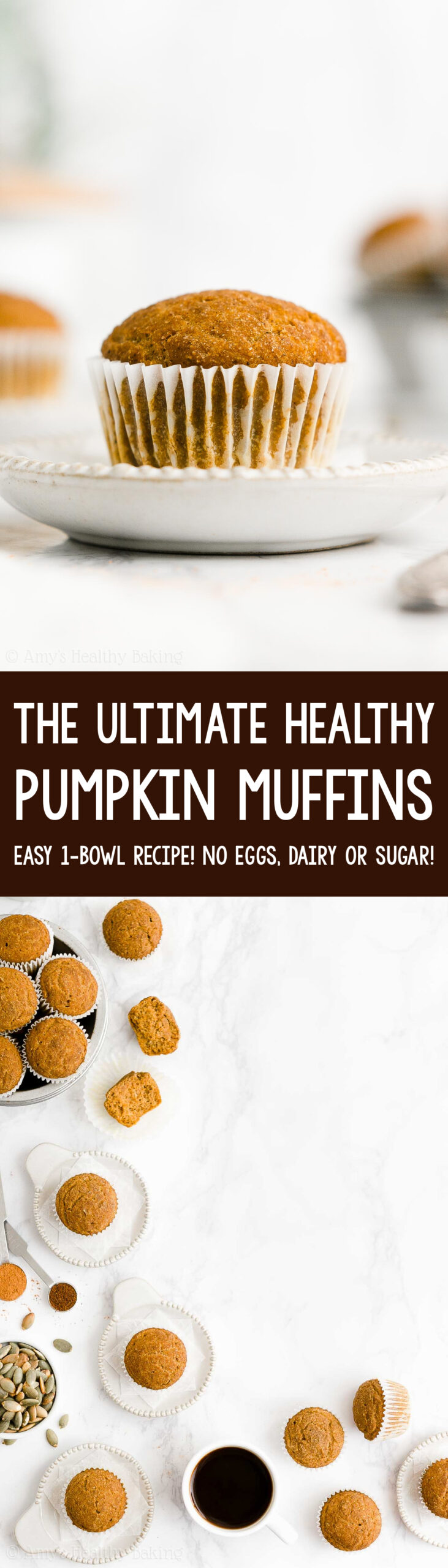 Best Ever Easy Healthy Clean Eating Vegan No Sugar Moist Pumpkin Muffins