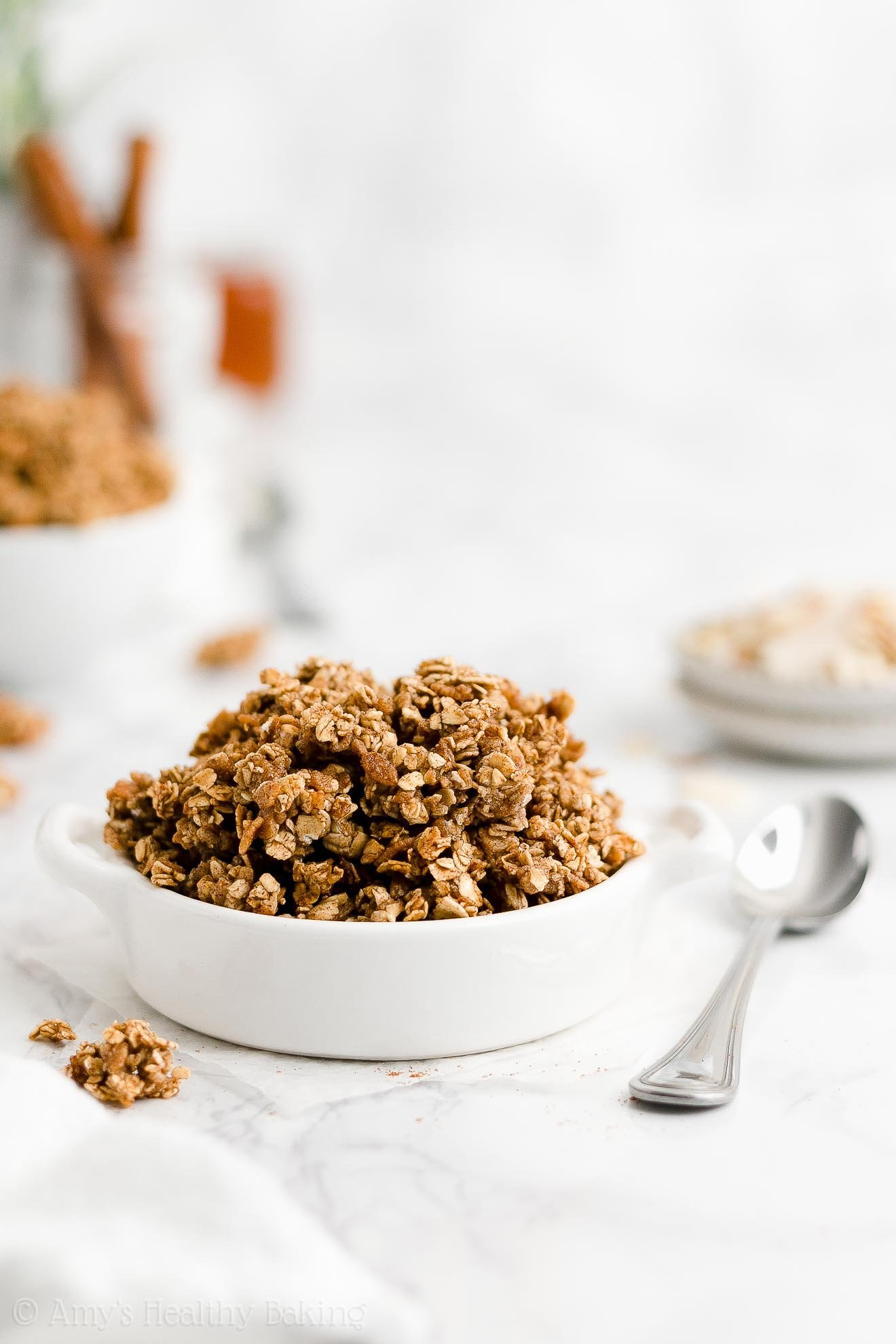 basic granola recipe with crunchy clusters & no oil that's dairy free