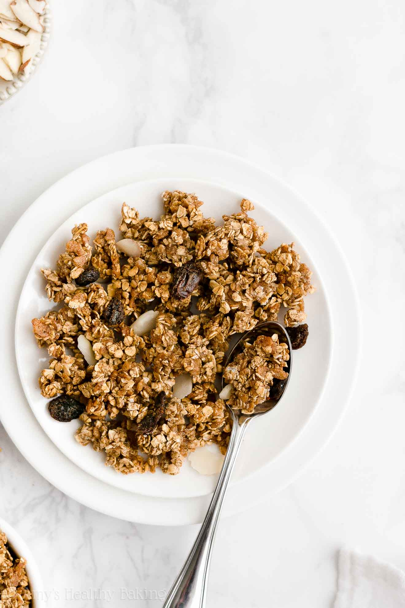 best easy healthy homemade granola that's clean, gluten free & low calorie