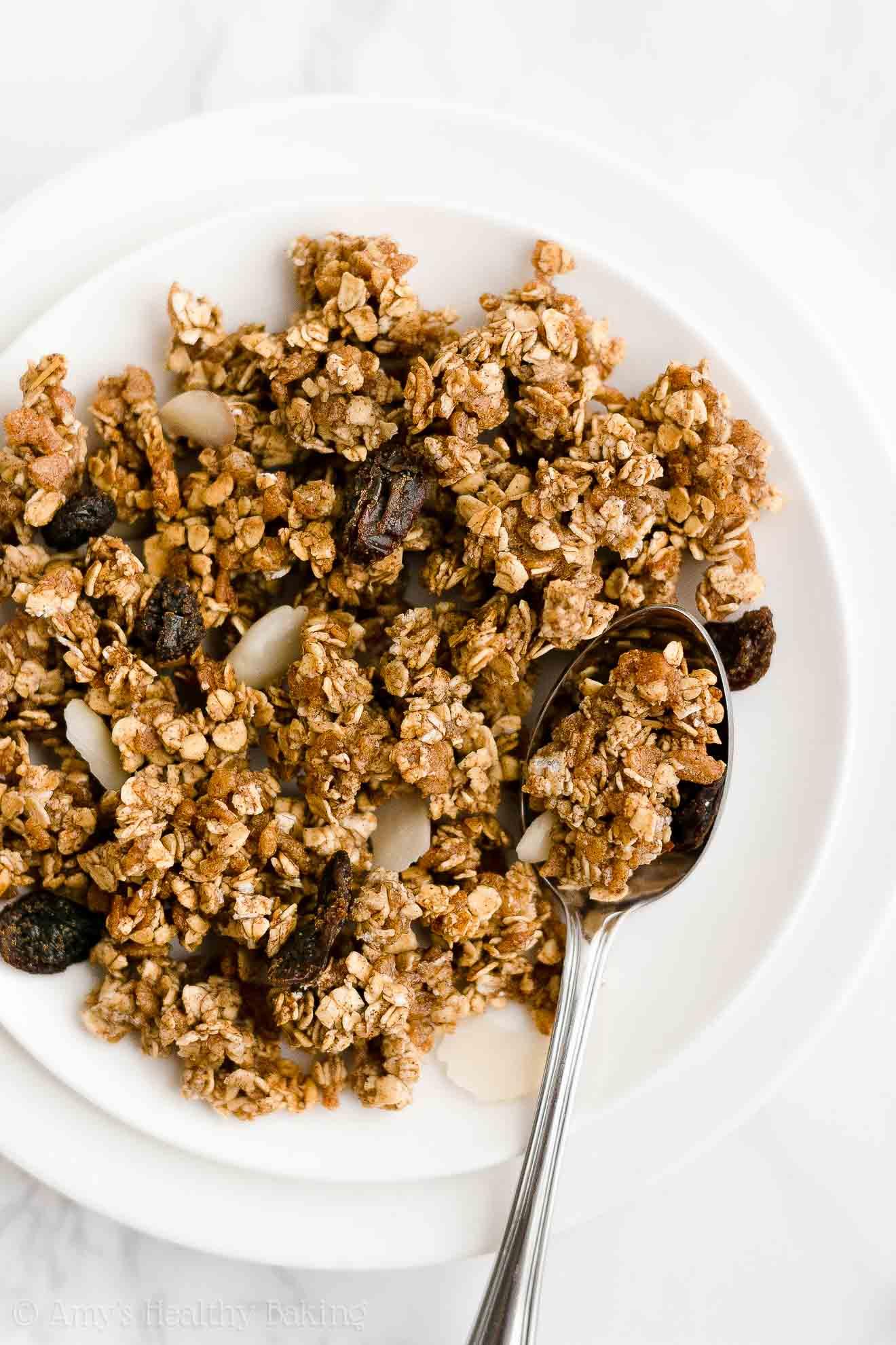 healthy granola recipe - best homemade granola with cinnamon & no oil or dairy